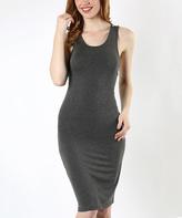 Charcoal Crisscross Bodycon Dress