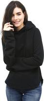 West Coast Wardrobe Disco Flare Sleeve Oversized Hoodie in Black