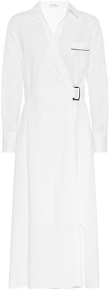 Brunello Cucinelli Cotton-poplin midi wrap dress