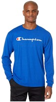 Champion Classic Jersey Graphic Long Sleeve Tee (Surf the Web) Men's Clothing
