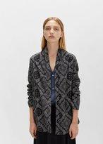 6397 Flannel Bandana Shawl Cardigan Black Bandana Size: Medium