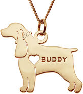 JCPenney FINE JEWELRY Personalized Cocker Spaniel 14K Yellow Gold Over Sterling Pendant Necklace