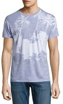 Sol Angeles Cabana Palm Tree Fine-Stripe Pocket T-Shirt, Blue