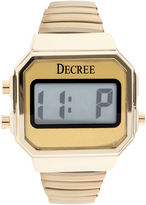 JCPenney Decree Womens Stainless Steel Digital Expansion Bracelet Watch