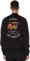 Stussy Republic Velvet Mens Bomber Jacket Black