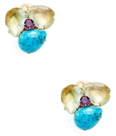 Bounkit Gemstone Cluster Stud Earrings