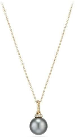 David Yurman Solari 18k Pearl Pendant Necklace w/ Diamonds