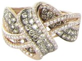 LeVian Le Vian Chocolate 14K Rose Gold with 1.22ct Diamonds Ring Size 7