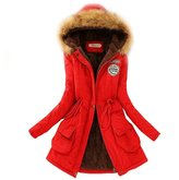 Dreamtao Womens Winter Down Coat Jackets Thicken Warm Fur Collar Parkas Down Parka