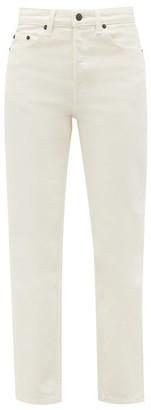 The Row Ash High-rise Cotton Straight-leg Jeans - Cream