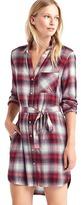 Gap + Pendleton long sleeve shirtdress