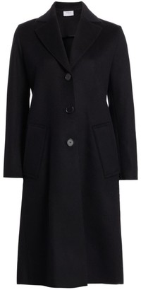 Akris Punto Ruffled Back Single-Breasted Coat