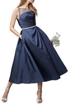 Monique Lhuillier Bridesmaids Short Taffeta Dress