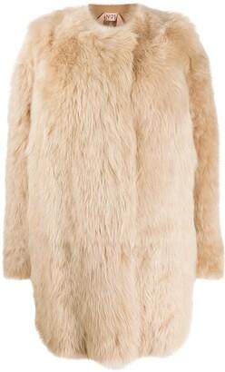 No.21 Single-Breasted Fur Coat
