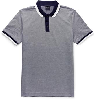 HUGO BOSS Philipson 66 Slim-Fit Contrast-Tipped Mercerised Cotton Polo Shirt