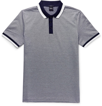 HUGO BOSS Philipson 66 Slim-Fit Contrast-Tipped Mercerised Cotton Polo Shirt