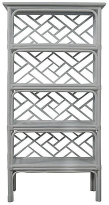 David Francis Furniture Chippendale Etagere - Light Gray