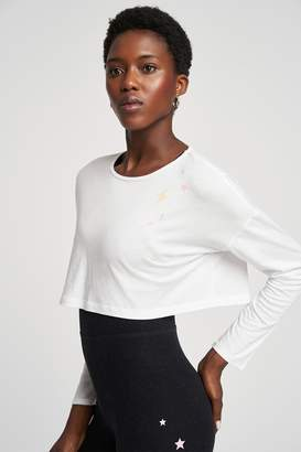 Beyond Yoga X Amanda Kloots Off Cuff Super Cropped Pullover