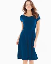 Soma Intimates Cap Sleeve Ilana Scoop Back Short Dress Marine Blue