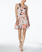 Betsey Johnson Floral-Print Flare Shirtdress