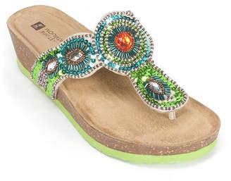 White Mountain Blast Wedge Sandals Women Shoes