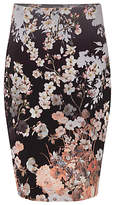 Phase Eight Kyoto Floral Skirt, Black/Multi