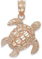 Macy's Diamond-Cut Turtle Charm in 14k Rose Gold