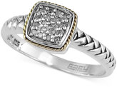 Effy Balissima by Braided Diamond Accent Ring in Sterling Silver and 18k Gold