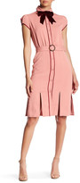 Alice + Olivia Carie Belted Bow Tie Shirtdress