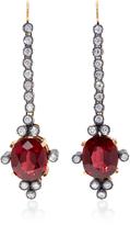 Montse Esteve 18K Gold Rhodolite and Diamond Earrings