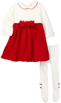 Emile et Rose Jewell Bubble Dress & Tights Set (Baby Girls)