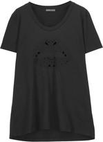 Markus Lupfer Dani cutout embroidered cotton T-shirt