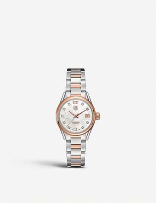 Tag Heuer WAR2452.bd0772 Carrera stainless steel, mother-of-pearl and diamond watch