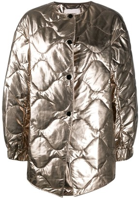 Dorothee Schumacher Mirror Shine quilted coat