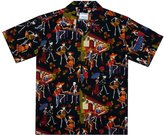 DC Hawaiian Shirt, Skeleton, black, XXL