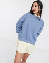 Weekday Amaze loose sweatshirt in blue