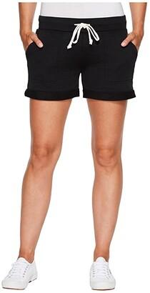 Alternative Burnout French Terry Lounge Shorts (True Black) Women's Shorts