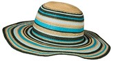 Merona Women's Floppy Hat Blue Striped