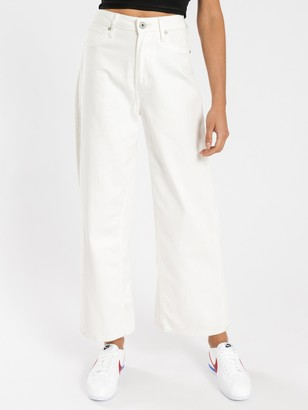 Articles of Society Sophie Wide Leg Jeans in Ecru Denim