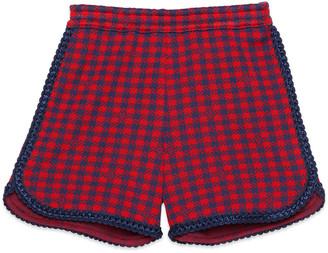Gucci Children's Square G check cotton shorts