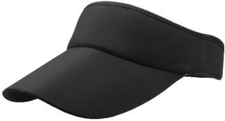 Winkey Women's Empty Top Sunhat Sport Headband Classic Sun Visor Caps Hat (Black)
