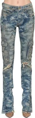 Filles a papa Camouflage Printed Cotton Denim Jeans