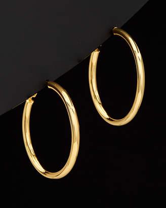 Argentovivo 18K Over Silver Medium Tube Earrings