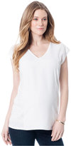 A Pea in the Pod Maternity V-Neck Cap-Sleeve Top