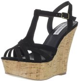 Steve Madden Women's Wildness T-Strap Wedge