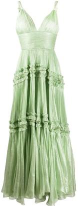 Maria Lucia Hohan Pleated Evening Dress