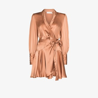 Zimmermann Wrap silk mini dress