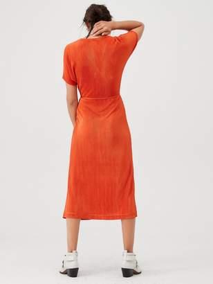 Very Plisse Midi Dress - Rust