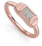 Monica Vinader Women's Baja Deco Diamond Ring