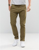 !solid Skinny Fit Chinos With Stretch